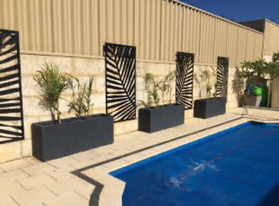 Poolside pots and planters